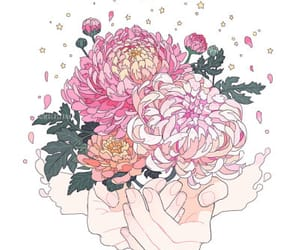 flowers, hands, and pink image