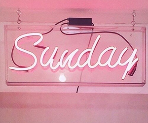 pink, Sunday, and lights image