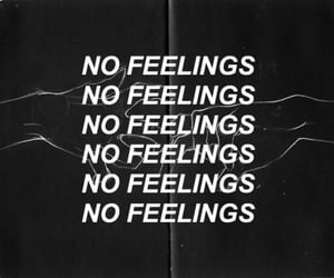 quotes, tumblr, and no feelings image