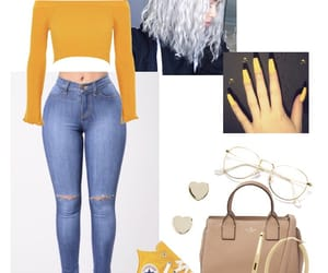 hair, nails, and Polyvore image