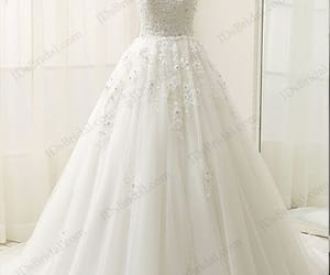 bridal dress, tulle wedding dresses, and princess wedding gown image