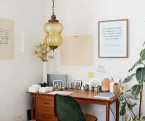 decor, desk, and interior image