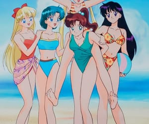 sailor moon, anime, and summer image