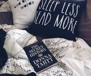 book, read, and bed image