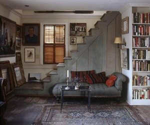 room, book, and interior image