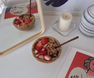 berry, breakfast, and candle image