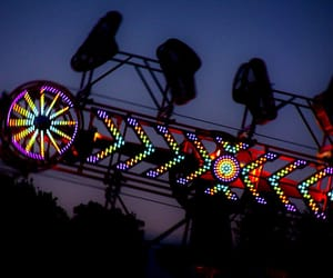 amusement, night, and places image