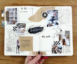 creative, journal, and study image
