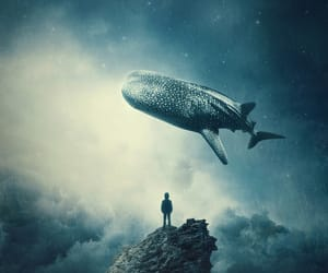 alone, blue, and fantasy image