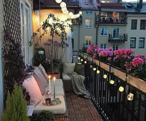 home, flowers, and balcony image
