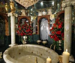 luxury, bathroom, and bathtub image