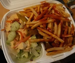 fast food, fat, and fries image