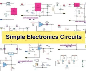 basic circuit diagram, simple amplifier circuit, and power supply circuit image