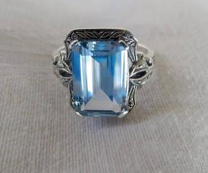 etsy, aquamarine ring, and size 6 ring image