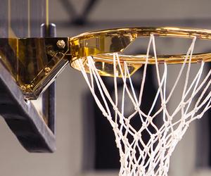 Basketball, gold, and basket image
