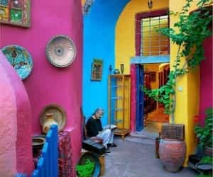 beautiful, colorful, and Greece image