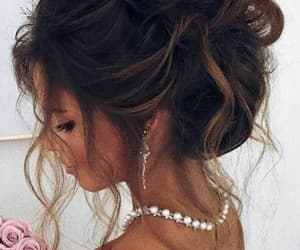 hair style, updo, and hairbun image