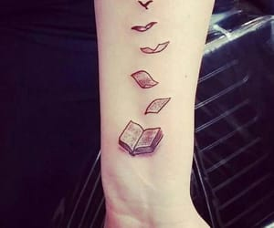 art, books, and tattoo image