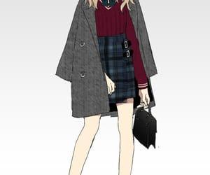 fashion, anime, and anime girl image