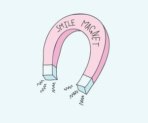 magnet, pastel, and smile image