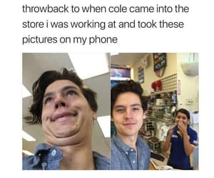 funny, cole sprouse, and cute image