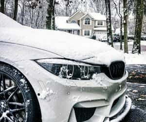 bmw, car, and snow image
