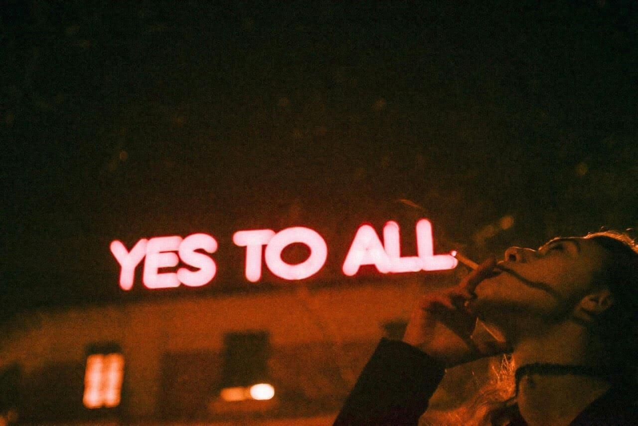 night, neon, and grunge image