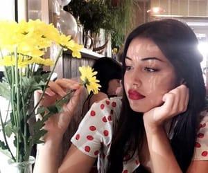 girl, cindy kimberly, and flowers image