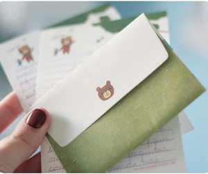 adorable, bear, and carta image