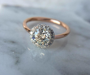 bride, gold, and diamond image