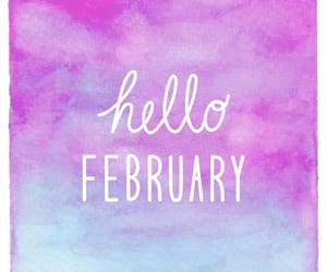 february, water color, and seasons image