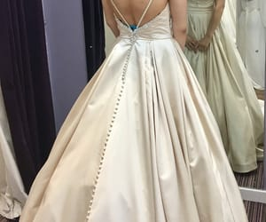 low back wedding dress, 2018 wedding gowns, and bridal 2018 inspirations image