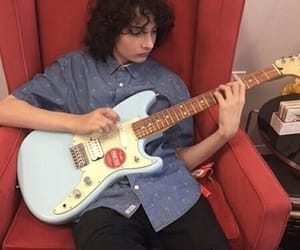 finn wolfhard, guitar, and theme image