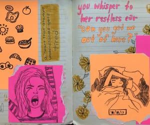 art, diary, and art journal image