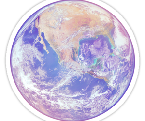 earth, galaxy, and pastel image