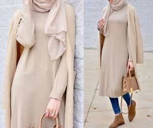 cardigans, hijab, and neutral fall outfit image