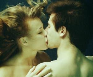 art, blue, and kiss image