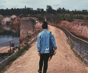back, denim, and jacket image