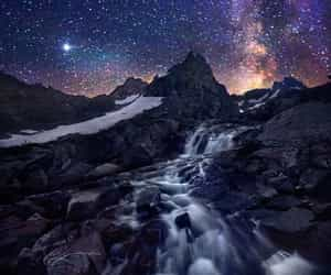 milky way, night, and pure image