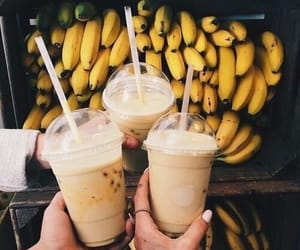 banana, Bebidas, and platano image
