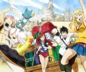 happy, fairy tail, and lucy heartfilia image