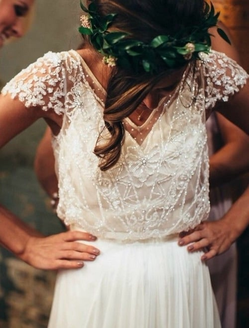 beautiful, style, and wedding image