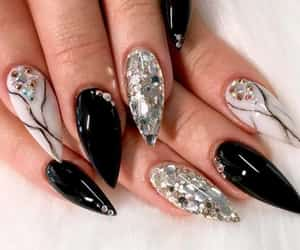 black, claws, and fashion image