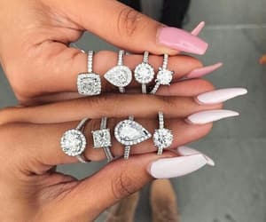 nails, rings, and diamonds image