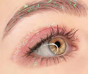 pink, eye, and eyes image