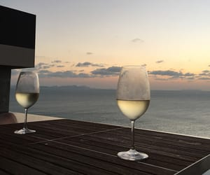 wine, drink, and sky image