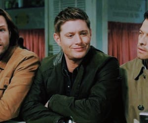 jared padalecki, misha collins, and dean winchester image