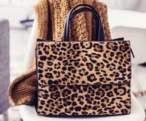 bag, animalprint, and leopardprint image