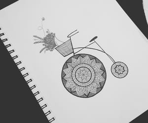 art, bicycle, and pencil image