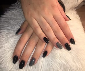 awesome, black, and nails image